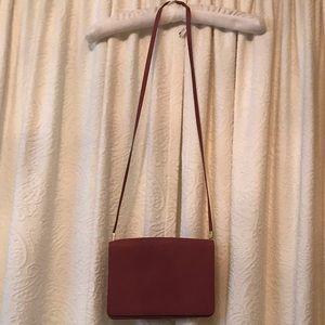 Maroon dark pink h&m shoulder purse
